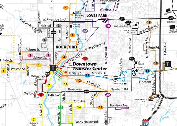 RMTD System Map
